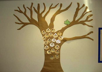 The Readathon tree, before it filled with leaves