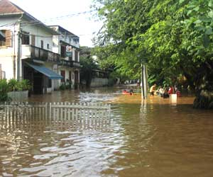 Flooding in Luang Prabang, Laos, August 2008